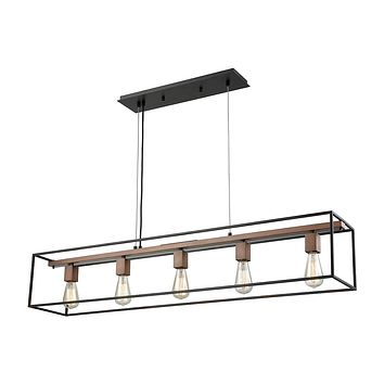 14463/5 Rigby 5 Light Chandelier In Oil Rubbed Bronze And Tarnished Brass