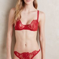 La Perla Maharani Underwire Bra in Bright Red Size: