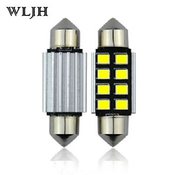 WLJH 1x Canbus 36mm 39mm 41mm 31mm For Samsung LED Chip 2835 6418 C5W External Interior Lights 12v Car Light Source Parking