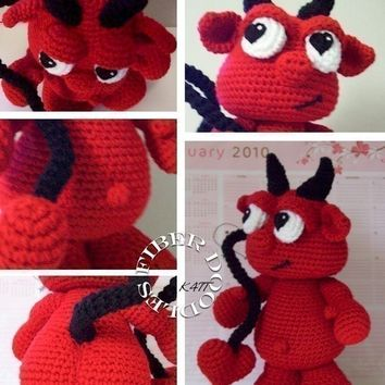 INSTANT DOWNLOAD : Lu the Amigurumi Devil Crochet Pattern