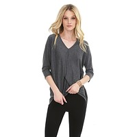 3/4 Dolman Sleeve Top Grey