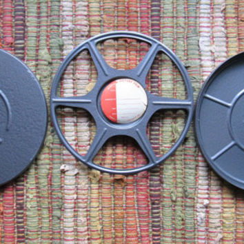 Vintage 8mm Metal Film Reel Container // Compco Movie Cannister