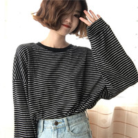 Buy Cattie Long-Sleeved Striped T-Shirt | YesStyle