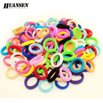 Hair accessories for girls/women Hiar ties for children hair Mix color small size elastic hair bands 40 pieces