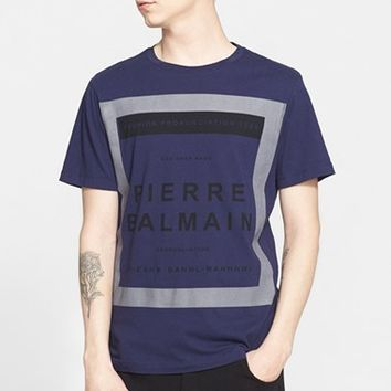 Men's Pierre Balmain 'Box Logo' Graphic T-Shirt,