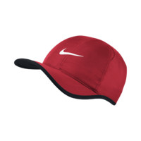 Nike Feather Light  Adjustable Tennis Hat (Red)
