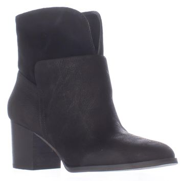 Nine West Dale Pull On Ankle Boots, Black/Black, 11 US