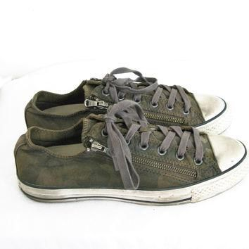 6cecf6dea16b Converse x John Varvatos Double Zip Camouflage Oxford M8 W10