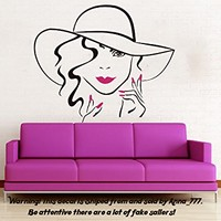 Face Makeup Wall Decal Lips Eyes Vinyl Sticker Decals Girl Woman Hand Manicure Nail Home Decor Bedroom Beauty Salon Design Interior NS998