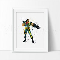 Bishop Watercolor Art Print