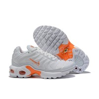 Nike Air Max Plus White Orange Child Sneaker Toddler Kid Shoes - Best Deal Online