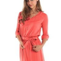 Weekend Nursing Shirt Dress {Georgia Peach}