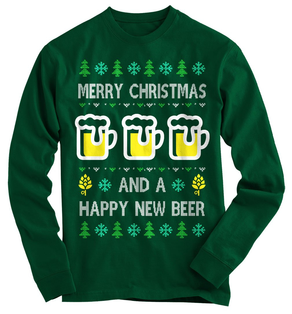 533a8967db6a Happy New Beer Ugly Christmas Sweater from Gnarly Tees