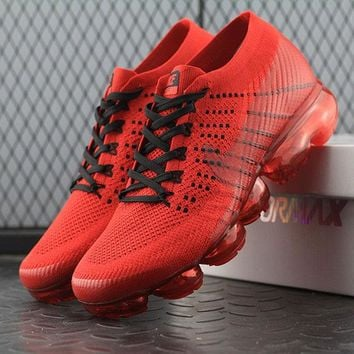 Best Online Sale CLOT x Nike Air VaporMax Vapor Max 2018 Flyknit Men Red Sport Running Shoes 849560-009