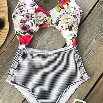 Cupshe Think About You Print One-piece Swimsuit