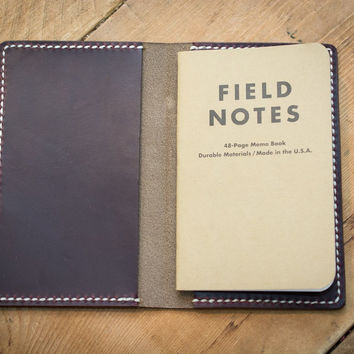 Burgundy Leather Field Notes Cover