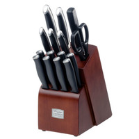 Kitchen Knife Set Stainless Steel 16 pc Wood Block Steak Knives Chicago Cutlery