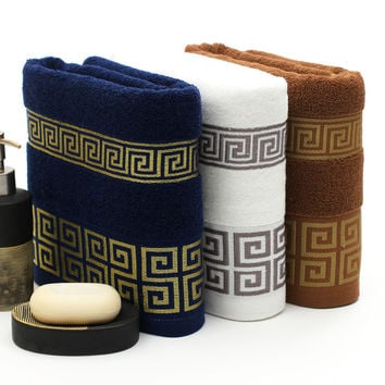 32*72cm Jacquard Cotton Terry Hand Towels,Decorative Elegant Embroidered Bathroom Hand Towels,Face Hand Towels,Toalhas de Rosto