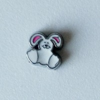 Bunny Pink Ears Floating Charm
