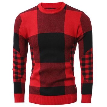 Men Spring Casual Red Men Sweater Male Pullovers Cashmere Christmas Sweaters