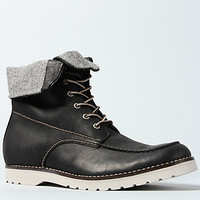 The Mayall 8' Moc-Toe Wedge Boot in Black and Gray