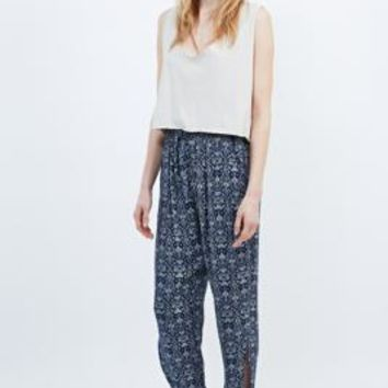 Palolem Side-Split Tie-Hem Beach Trousers in Indigo - Urban Outfitters
