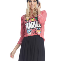 Marvel™ Heroes Burnout Tee | Wet Seal