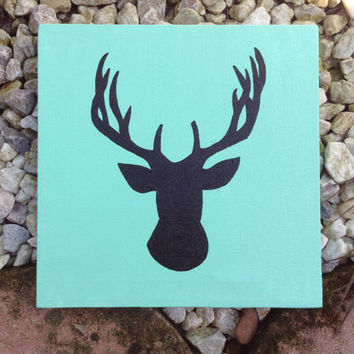 Hand Painted Canvas - Buck Head