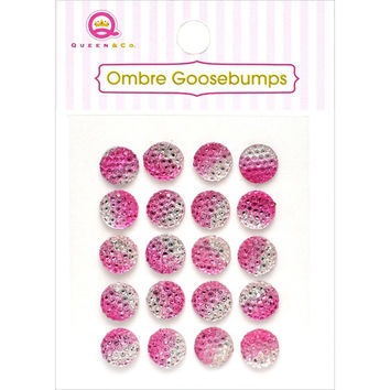 Queen & Co Ombre Goosebumps 7mm Self-Adhesive 20/Pkg-Pink