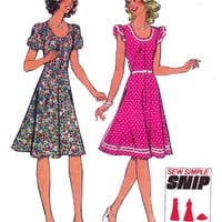 Cute Flared Disco Dress 1970s Vintage Sewing pattern Style 1133 Size 10 Bust 32 1/2 UNCUT FF