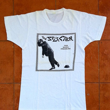 ON SALE Vintage 80's THE Selecter Too Much Pressure The Kinks Ska 1980s Concert T shirt