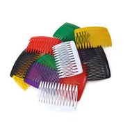 Vintage Hair Combs 1980s Hair Combs Colorful Hair Combs
