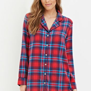 Tartan Plaid Flannel Nightdress