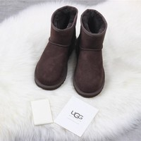 """""""Ugg """"winter Snow Boots Men fashion Brown shoes/1017496"""