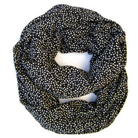Little White Valentine Hearts Infinity Scarf Women Endless Loop Circle Scarf Valentine Fashion Scarves Cute Teen Womens Valentines Day Scarf