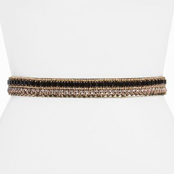 Women's Glint Crystal Chain Stretch Belt