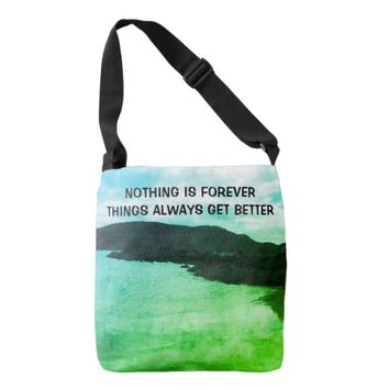 Forever Photo Quote by Kat Worth Crossbody Bag