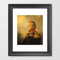 Bill Murray - replaceface Framed Art Print by Replaceface
