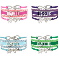 Love Infinity Diabetic Awareness Hope Bracelet -Gift (Save! Buy 2 Or More)Free! Just Pay Shipping!