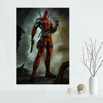 Deadpool Dead pool Taco New arrival  Marvel Comic Canvas Poster Hot Sale Custom Canvas Painting Poster print cloth fabric wall art poster AT_70_6
