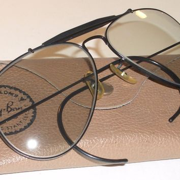 1960's 62[]14 VINTAGE B&L RAY BAN PHOTO GRAY CHANGEABLES OUTDOORSMAN SUNGLASSES