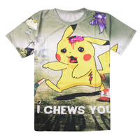 Pokemon Go Real Word 2016 Funny Cool t shirt Men's Short Sleeve T-shirts Cotton Tops O Neck Clothing Summer Style tee,YA254