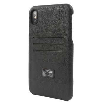 HEX - Shield Wallet Black Leather iPhone XS Max Phone Case