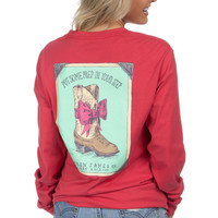 Lauren James: Prep Step Tee {Burnt Red}