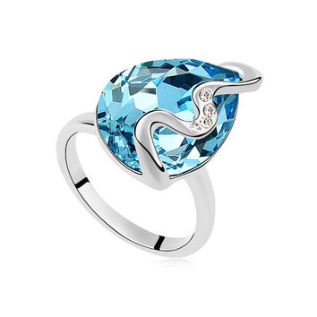 Stylish New Arrival Jewelry Shiny Gift Crystal Ring [4989614148]