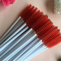 100 Make-up Brushes Synthetic Fiber Disposable Mascara Brushes Mascara Applicators Mascara Brushes Make-up Brushes Purple