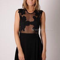 fairground flowers in bloom dress - black at Esther Boutique