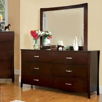 Durable Contemporary Style Wooden Dresser, Brown Cherry