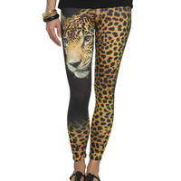 Leopard Face Printed Legging | Shop Bottoms at Wet Seal