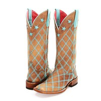 BootDaddy Collection with Macie Bean Turquoise Patchwork Cowgirl Boots